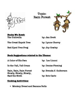 Rainforest Book List and Recipes