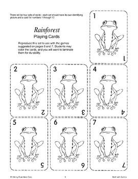 Rainforest Card Games (Math Games)
