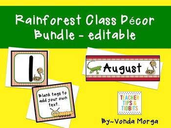 Rainforest Classroom Decor Bundle