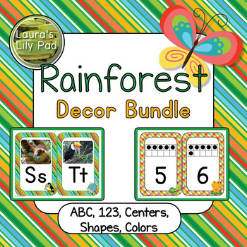 Rainforest Classroom Decor Bundle