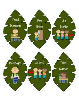 Rainforest Classroom Job Chart