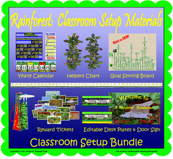 Rainforest: Classroom Setup Materials (Bundle)v2