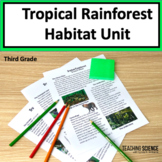 Rainforest Close Read: Habitat and Adaptations NGSS 3-LS4-3 and 3-LS4-4