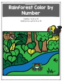 Rainforest Color by Number (Addition and Subtraction)