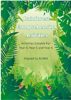 Rainforest Comprehension Activites