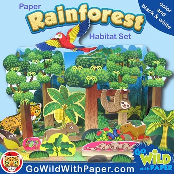 Rainforest Craft Activity Rainforest Habitat Diorama Paper Model