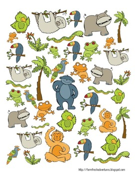 Rainforest Creatures Hunt, Tally and Graph