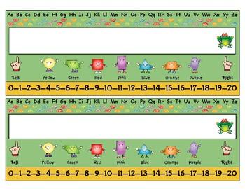 Rainforest: Desktop Name Plates