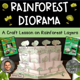 Rainforest Layers Diorama Craftivity