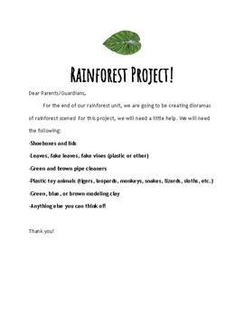 Rainforest Diorama Handout