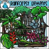 Rainforest Elements Clip Art - Chirp Graphics