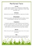 Rainforest Fact Cards