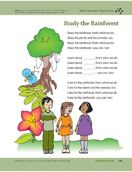 Rainforest Family: Art and Cooking Activities & a Song