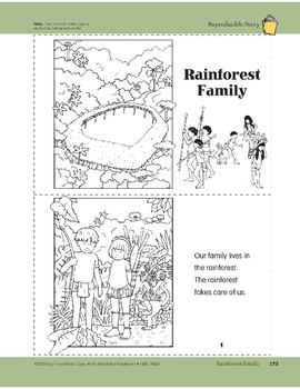 Rainforest Family: Take-Home Book