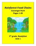 Rainforest Food Chains (Part 1), 5th grade ReadyGen Unit 1