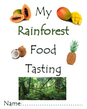 Rainforest Food (Taste Test Booklet)