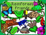 Rainforest Friends Jungle Clip Art Kid-E-Clips Commercial and Personal Use