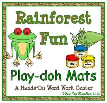 Rainforest Fun Playdoh Activity Pack