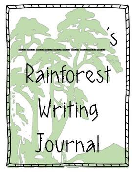 Rainforest & Ocean Habitat Animal Writing Journal Exposito