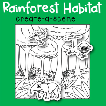 Rainforest Habitat Create-a-Scene
