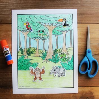 Rainforest Habitat Create-a-Scene