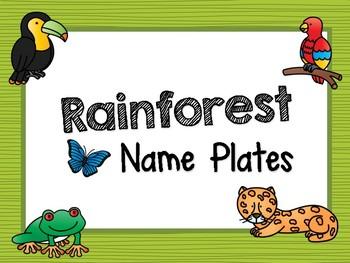 Rainforest Habitat Name Plates / Labels