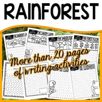 Rainforest Habitat Unit - Common Core Non-Fiction (reading and writing)