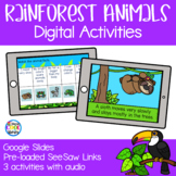 Rainforest Habitat and Animals - Digital Activities | Goog