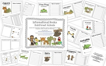 Rainforest Investigations and Mini Books