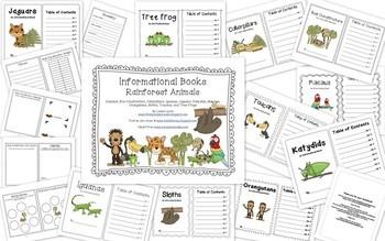 Rainforest Investigations and Mini Books