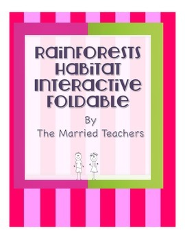 Rainforest Interactive Science Foldable