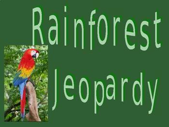 Rainforest Jeopardy Game
