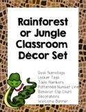 Rainforest Jungle Classroom Theme Decor  (Number Line, Behavior Chart & More!}