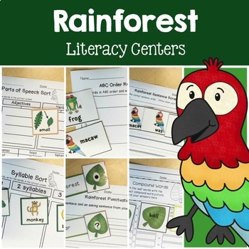 Rainforest Math & Literacy Centers Bundle
