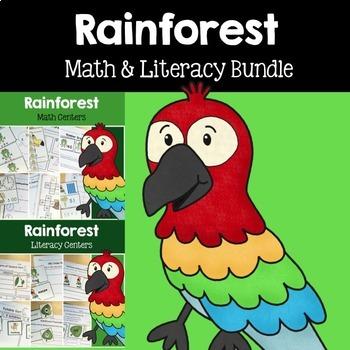 Rainforest Math & Literacy Centers Bundle