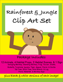 Rainforest & Jungle Habitat Critters Clip Art, Life Science