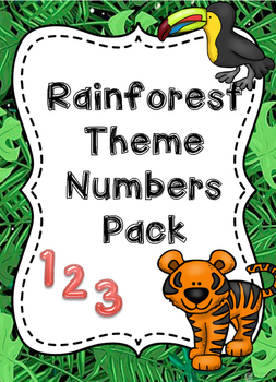 Theme Jungle rainforest/ jungle theme numbers poster/display pack | tpt