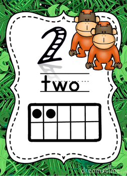 Rainforest/ Jungle Theme Numbers Poster/Display Pack
