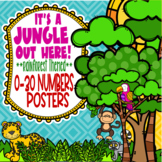 Rainforest & Jungle Themed 0-30 Numbers Posters