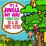 Rainforest & Jungle Themed 2D & 3D Shapes Posters