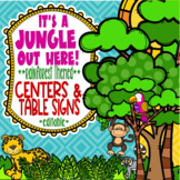 Rainforest & Jungle Themed Centers and Table Signs  **editable**