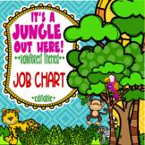 Rainforest & Jungle Themed Classroom Jobs Chart  **editable**