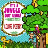 Rainforest & Jungle Themed Colors Posters