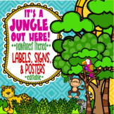 Rainforest & Jungle Themed Labels, Signs, and Posters *editable*