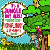 Rainforest & Jungle Themed Word Wall Headers and Pennants  **editable**