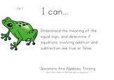 Rainforest Kids Theme 1st grade math Common Core Posters first Grade Standards