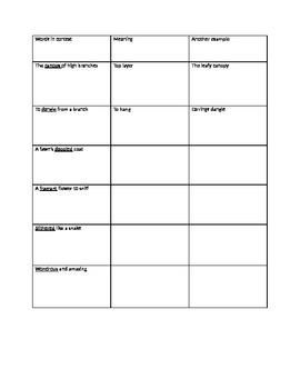 Rainforest Language Arts Lesson Plan