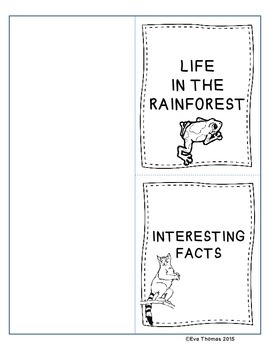 Rainforest Lapbook; Wonders Aligned Grade 2, Unit 4 Week 1