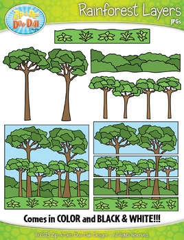 Rainforest Layers Clipart {Zip-A-Dee-Doo-Dah Designs}