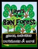 Rainforest Layers Activity Bundle